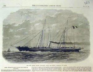 """Корветата """"Жером-Наполеон"""" според """"The Illustrated London News"""" от м. септември 1866 г."""