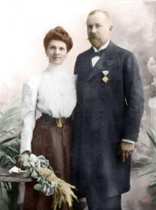 Антон Новак със съпругата си