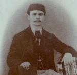 Портрет на Константин Арабаджиев, изпратен по повод подготвяната брошура за петдесетгодишнината на първото българско училище във Варна