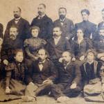 Иван Церов с колеги от Девическата гимназия