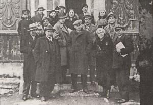Съставът на Варненския театър 1926/27 г. Директор-режисьор Г. П. Донев