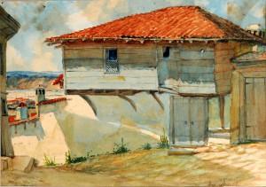 Стара Варна. Акварел на Индржих Кноб