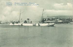 """В началото на 1911 г. на борда на крайцера """"Надежда"""" е инсталирана първата корабна радио инсталация"""
