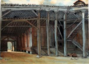 """""""Беглишки хамбар"""" - рисунка на Индржих Кноб"""