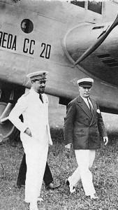 Ген. Итало Балбо и Бенито Мусолини, 1929 г.