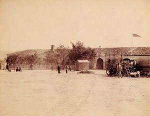 """Сградата на бившата турска военна болница от 1865 г. на ул. """"Цар Освободител"""""""
